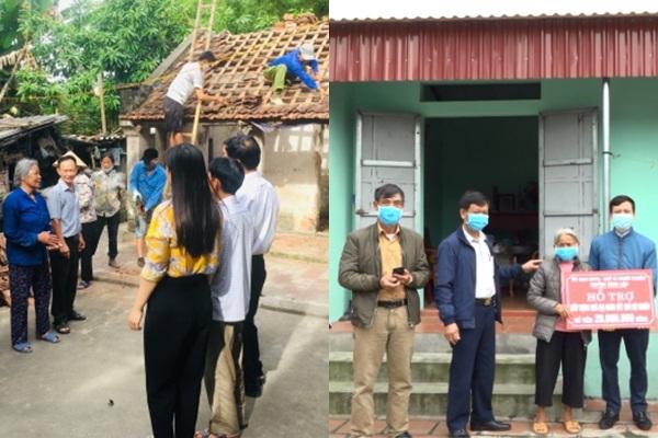 Hỗ trợ xây nhà đại đoàn kết cho 4 hộ nghèo ở xã Vĩnh Tiến