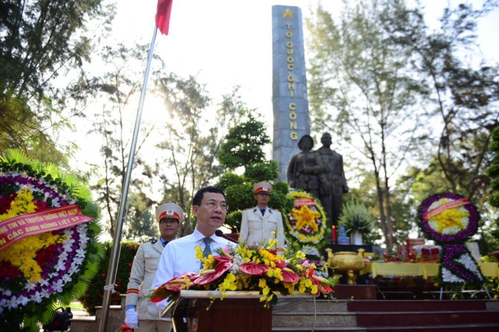 Diễn văn của Bộ trưởng Nguyễn Mạnh Hùng tại lễ tưởng niệm nghĩa trang liệt sĩ Tân Biên