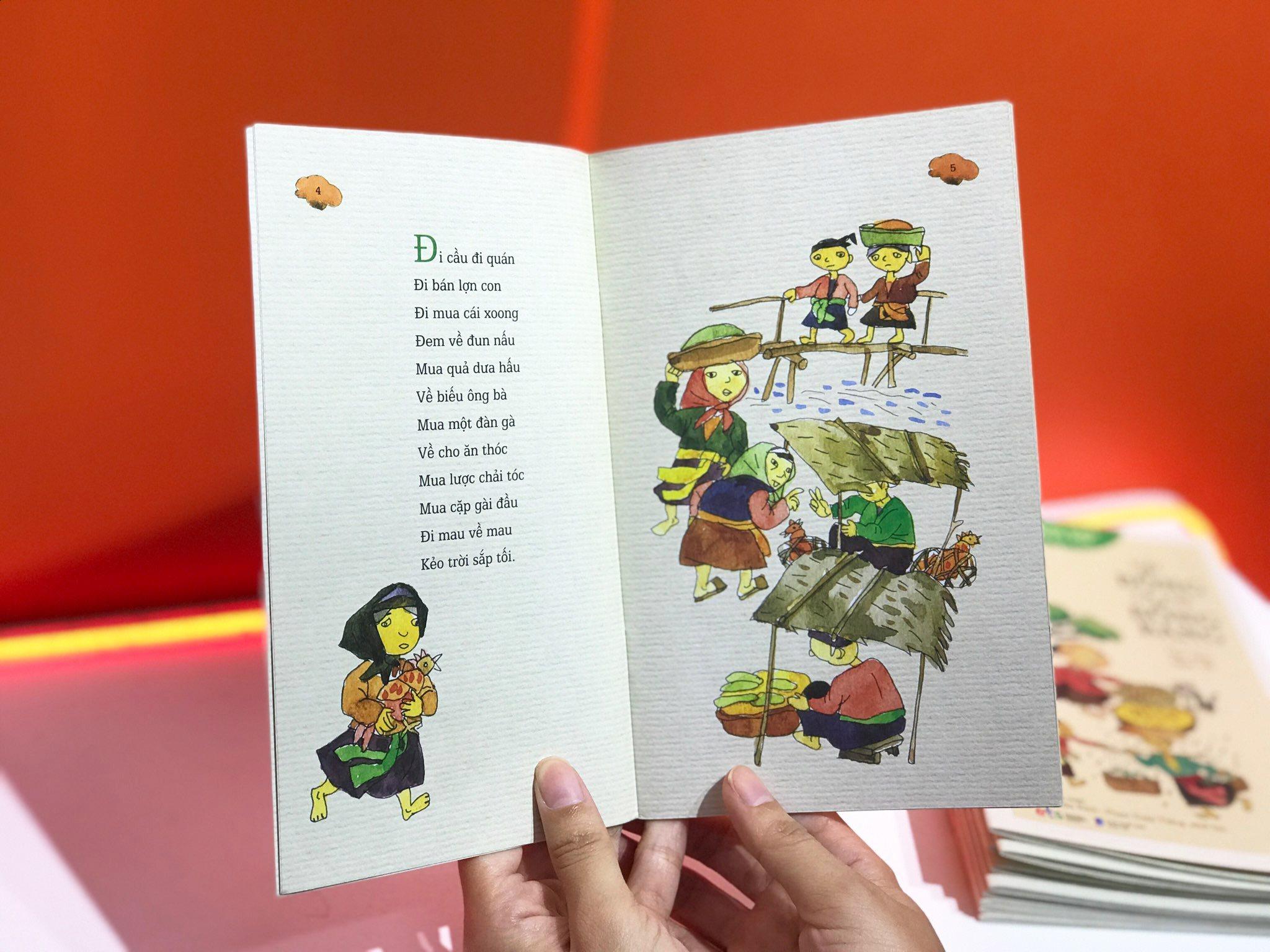 Bộ sách 10 cuốn về đồng dao cho độc giả nhí