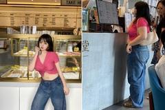 Hot girl TQ bị fan bắt gặp, ngoại hình thô kệch khác xa trên mạng