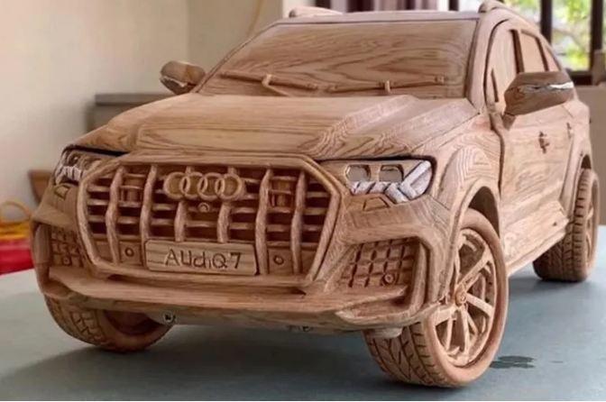 Loạt ô tô mô hình bằng gỗ của thợ Việt sốt trên báo ngoại
