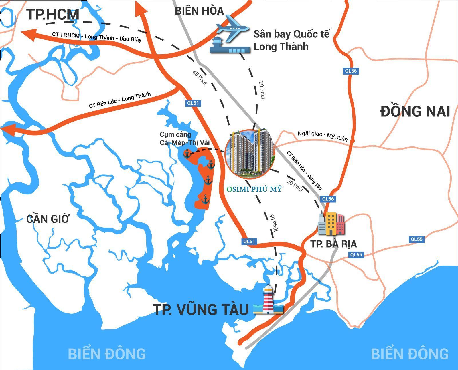 Osimi Phú Mỹ 'giải cơn khát' căn hộ tầm trung ở Bà Rịa Vũng Tàu