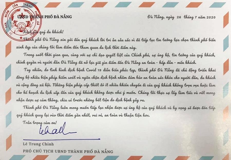 Đà Nẵng giãn cách xã hội, Phó Chủ tịch gửi 'tâm thư' mong du khách thông cảm