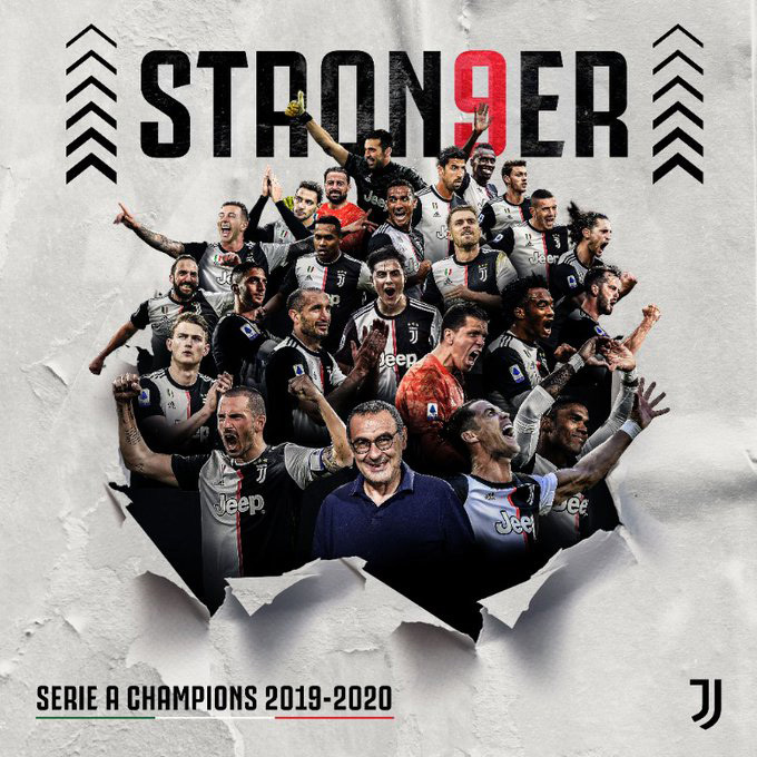 Ronaldo lập công, Juventus lần thứ 9 liên tiếp vô địch Serie A