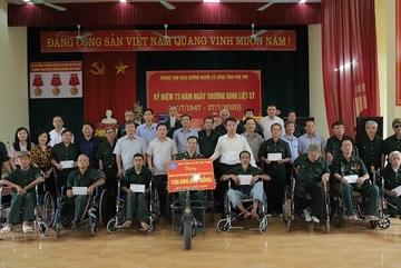 BHXH Việt Nam tri ân thương binh, bệnh binh tỉnh Phú Thọ