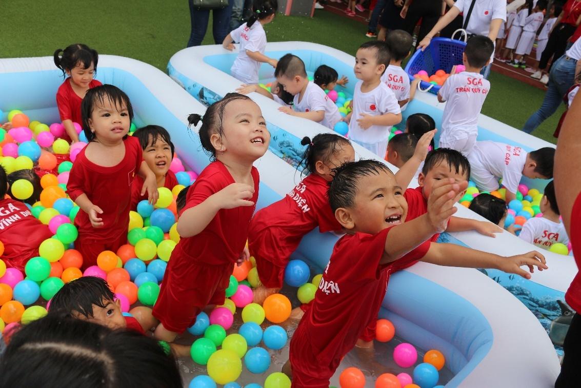 Hội thao đặc biệt ở trường Mầm non Quốc tế Saigon Academy