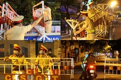 Dựng barie phong tỏa nhiều tuyến đường quanh 2 bệnh viện Đà Nẵng