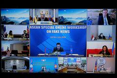 ASEAN: Hội nghị trực tuyến bàn về giảm thiểu tin tức giả mạo