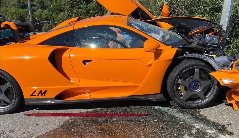 McLaren Senna LM siêu hiếm của cựu tay đua F1 vỡ nát bên đường