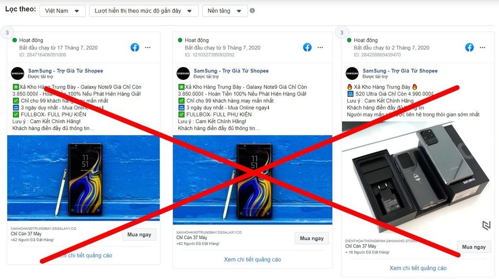 Is Facebook refusing to block 'dirty ads' in Vietnam?