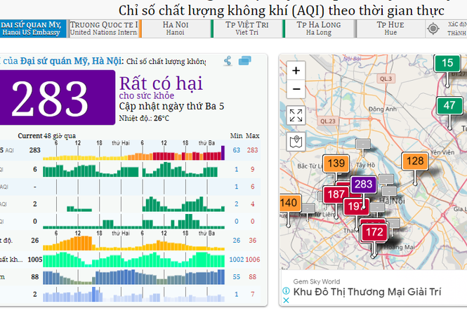 Hanoi air quality worsens