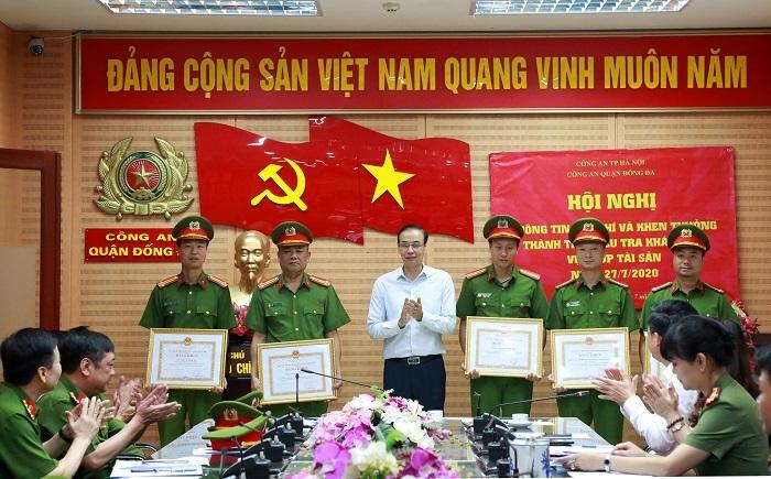 Bí thư, Chủ tịch Hà Nội khen thưởng công an phá nhanh vụ cướp ngân hàng