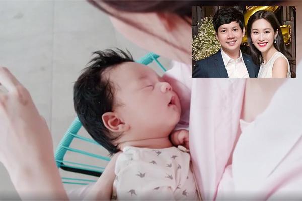Clip hạnh phúc Đặng Thu Thảo bên con trai 2 tháng tuổi