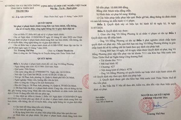 Phạt hướng dẫn viên khoe đưa đoàn tẩu thoát khỏi Đà Nẵng 10 triệu đồng