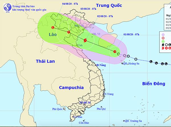 Bão khả năng vào đất liền chiều mai, nguy cơ ngập lụt nhiều nơi