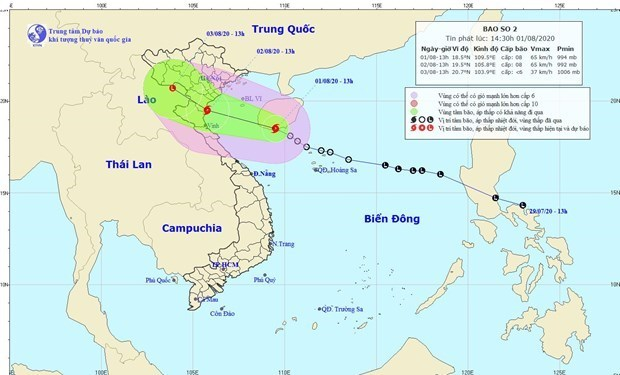 Storm Sinlaku enters East Sea, downpours occur in northern, central regions