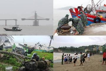 Ngư dân Thanh Hóa, Nghệ An hối hả đưa tàu thuyền vào bờ tránh bão số 2