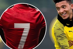 Số áo Jadon Sancho ở MU, Aubameyang sẽ rời Arsenal