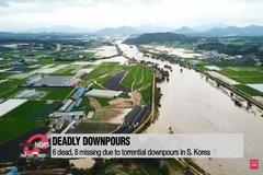 Mưa lụt phá hủy nhiều nhà cửa tại Hàn Quốc