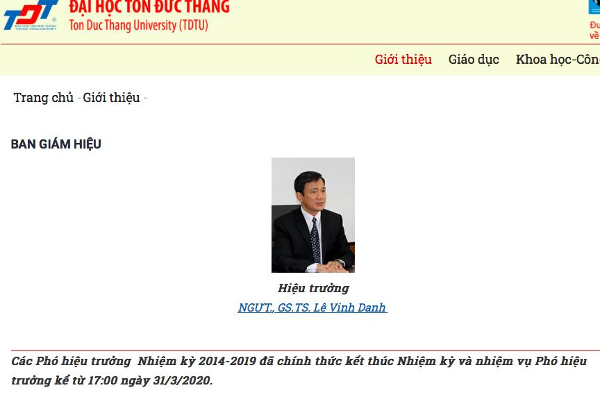 Kết luận của TLĐ về những nội dung tố cáo đối với ông Lê Vinh Danh