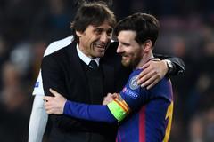 Conte được mời về Barca làm thầy của Messi