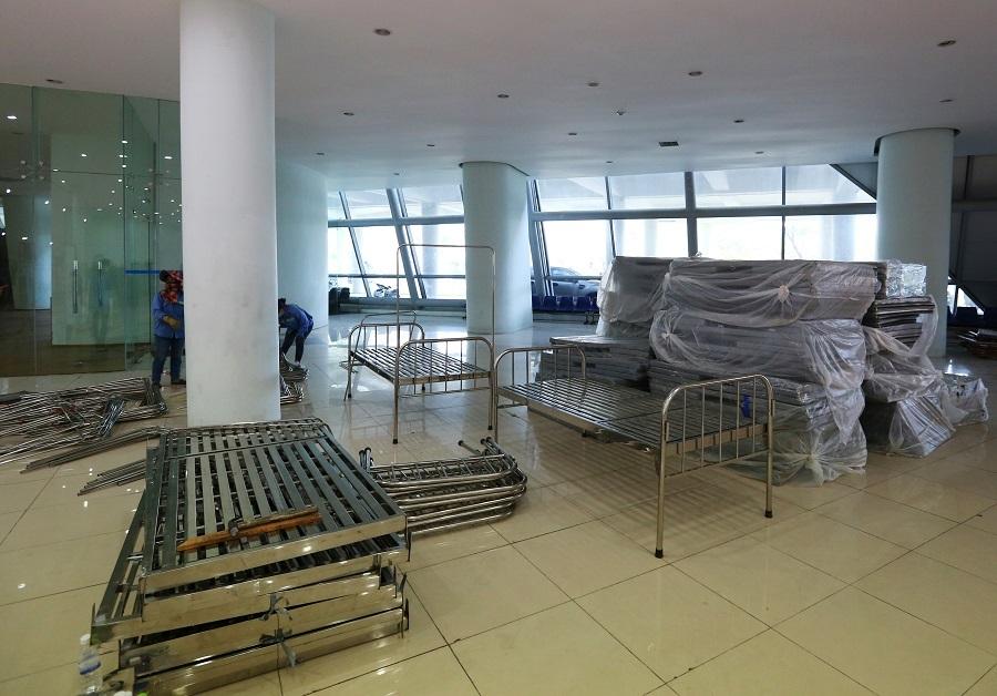 Hình ảnh bệnh viện dã chiến 700 giường ở Đà Nẵng trước giờ hoàn thiện