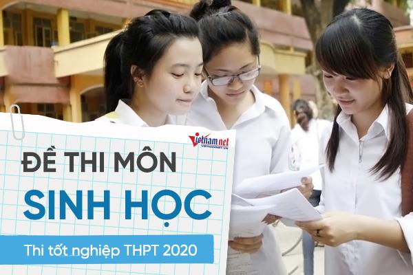 Đề thi chính thức môn Sinh học thi tốt nghiệp THPT 2020