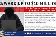 Mỹ treo thưởng 10 triệu USD cho việc phát hiện tin tặc tham gia vào cuộc bầu cử