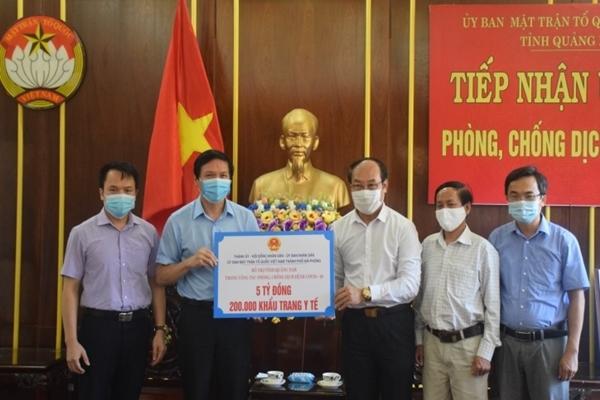 Hải Phòng hỗ trợ Quảng Nam 5 tỷ và 200.000 khẩu trang y tế