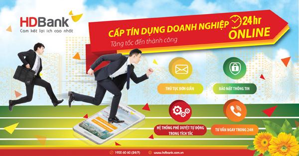 Cấp tín dụng doanh nghiệp online 24/7 ở HDBank