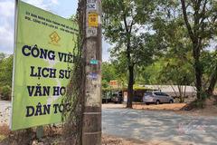 """""""Biến"""" đất công viên văn hoá thành xưởng gỗ, bãi xe container"""