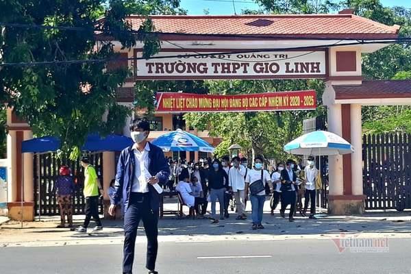 55 thí sinh ở Quảng Trị đang cách ly vì Covid-19, chưa thể thi đợt 1