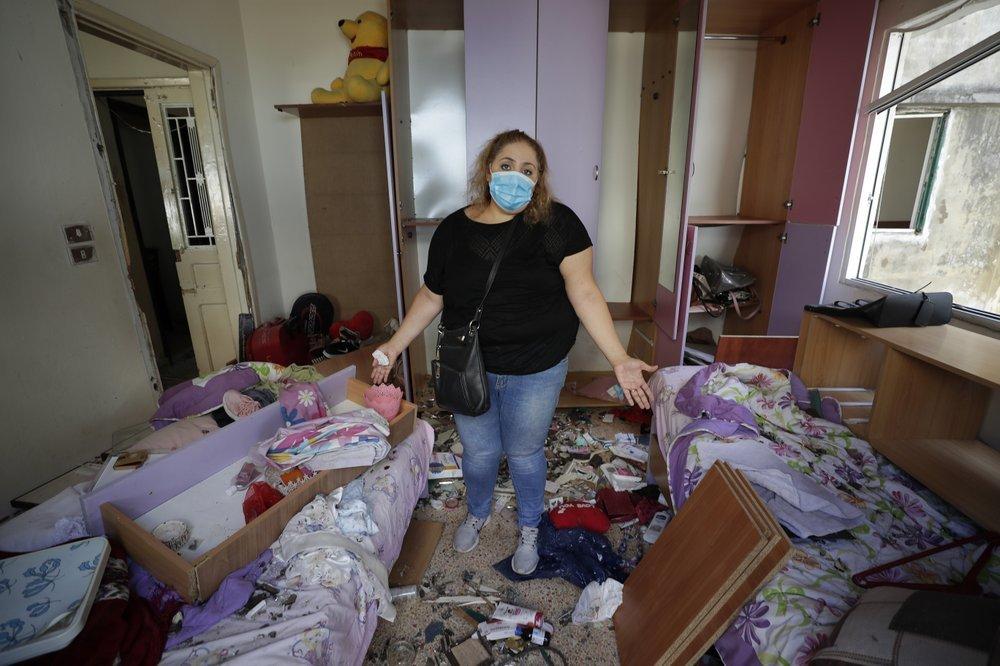 Hình ảnh hàng nghìn ngôi nhà tại Beirut bị phá hủy sau vụ nổ