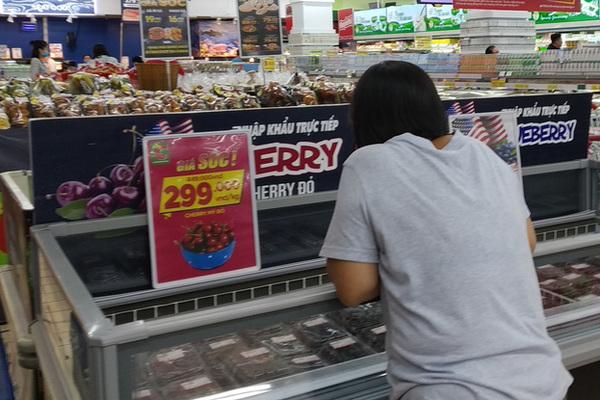Cherry Mỹ, Canada giảm giá 'sập sàn', nhà nhập khẩu lo lỗ vốn