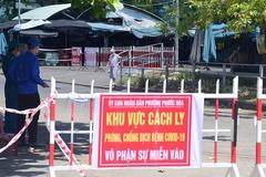 Phong tỏa khu phố gần chợ Tam Kỳ nơi bệnh nhân Covid-19 sinh sống