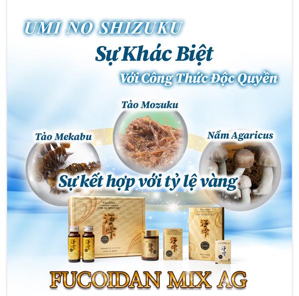 Fucoidan mix AG - hợp chất hỗ trợ nâng cao sức khỏe người bệnh ung thư
