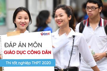 Đáp án tham khảo môn Giáo dục công dân thi tốt nghiệp THPT 2020, mã đề 312