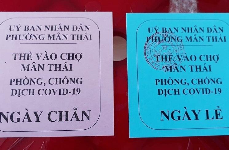 Đà Nẵng, từ ngày 12/8 người dân nhận thẻ đi chợ 3 ngày một lần