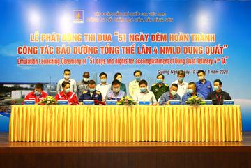 Phát động chiến dịch 51 ngày đêm bảo dưỡng tổng thể Lọc dầu Dung Quất