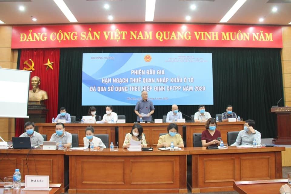 Lần đầu tiên Việt Nam đấu giá ô tô cũ theo tiêu chuẩn CPTPP