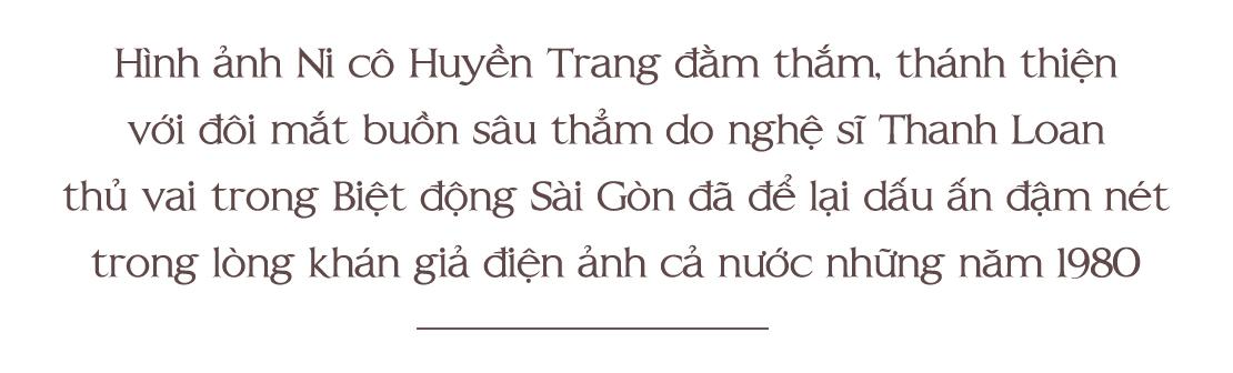 Diễn viên Thanh Loan,Ni cô Huyền Trang,Biệt động Sài Gòn