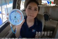 MC Xuân Anh dẫn bản tin thời tiết trong ô tô đóng kín nhiệt độ 57 độ C