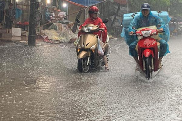 Thời tiết ngày 16/8: Khắp các tỉnh Bắc Bộ mưa rất to