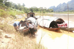 Fishing villagers move inland