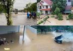 Mưa lớn nhiều giờ, nước ngập lưng cổng nhà ở Quảng Ninh