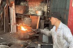 Steel takes shape as the furnace roars