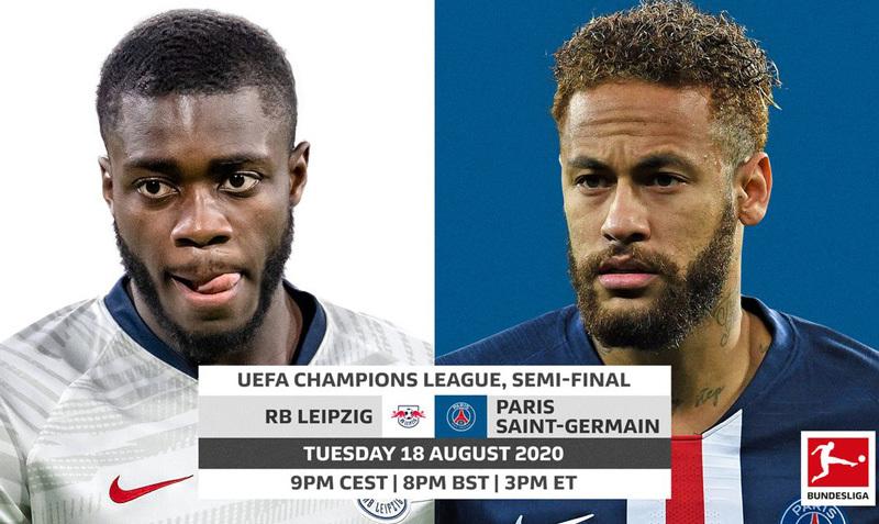 Lịch thi đấu bóng đá hôm nay 18/8: PSG vs RB Leipzig