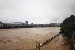Tứ Xuyên 'tả tơi' vì mưa lũ, nước cuồn cuộn đổ về Tam Hiệp