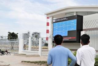 Nhiệt điện Vĩnh Tân 2 lắp đặt bảng điện tử thông số môi trường