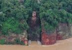 Video nước lũ tràn tới chân tượng Đại Phật tại Trung Quốc